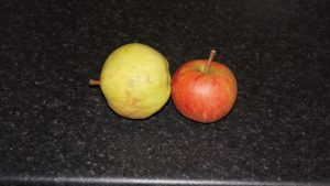A couple of apples.