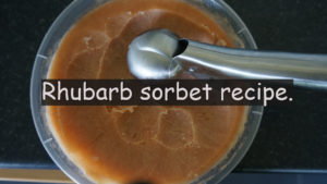 A couple of weeks ago I released this rhubarb cordial recipe. A reader named Rob replied with his rhubarb sorbet recipe. Well, I gave it a go, loved it and thought I should share it.