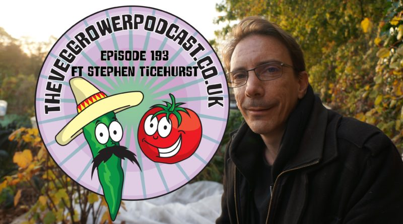 Join me in this weeks vegetable gardening podcast where I chat to fellow allotmenteer Stephen Ticehurst. I also share the latest progress on my plots.