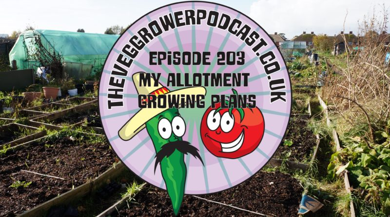 Join me in this weeks vegetable gardening podcast where I discuss my allotment growing plans. I also share the latest on the allotment and vegetable patch.