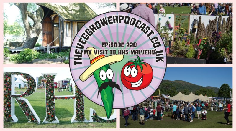 Join me in this weeks podcast where I take a trip to an RHS show in Malvern and share my thoughts as I wander around the show. We also have the latest on the plots.