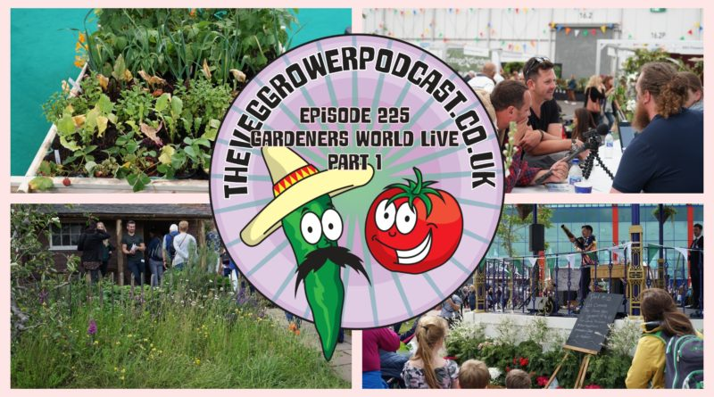 Join me in this weeks podcast where I start a tour of the gardeners world live 2019 show. Along the way we talk to the designer of an award winning garden and we ask Lucy Chamberlain and Saul walker for there help with the blueberry problem from a listener. We also have the latest from the plots.