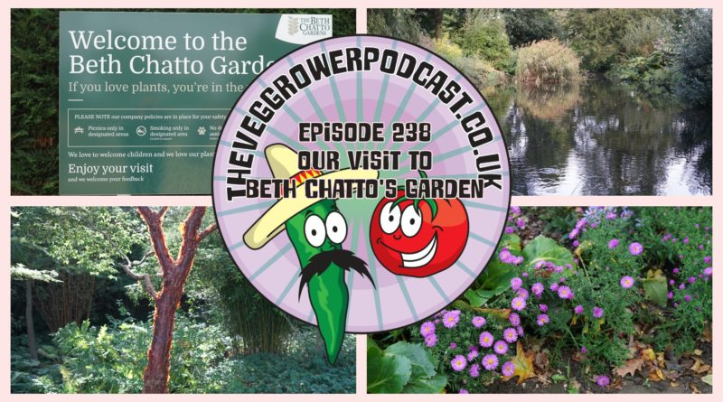 Join me in this week's podcast where I am joined with fellow podcaster Lee Connelly aka skinny jean gardener. In this podcast, Lee has taken me to explore Beth Chatto's gardens.