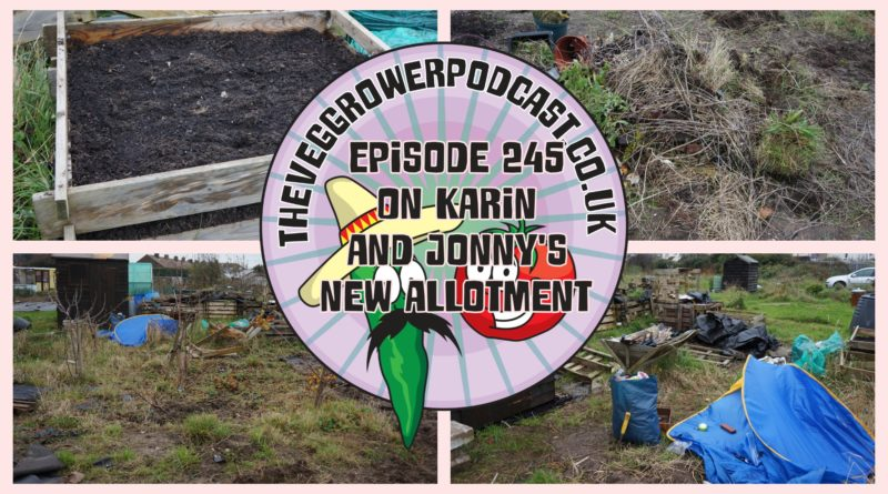 Join me in this week's podcast where we take our first visit to Karen and Jonny's allotment. Karin and Jonny have just started on their allotment and we are going to revisit their allotment from time to time to see how they are getting on with their allotment.