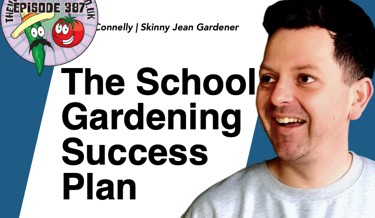 In this weeks podcast I am joined by lee Connolly aka The Skinny Jean Gardener. Lee has launched his school gardening success plan. A system designed for helping primary school teachers teach children about gardening. We also have the latest from the plots.